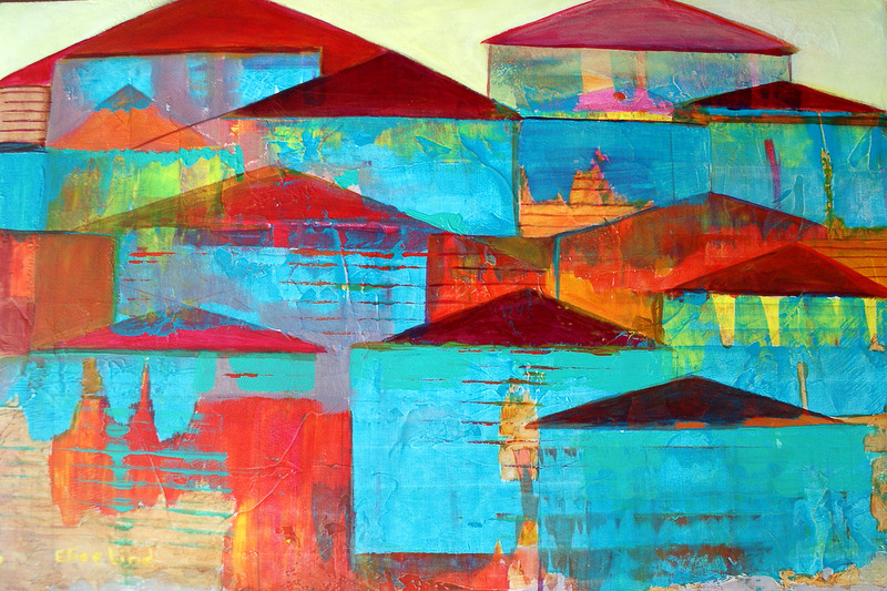 Turquoise Town: 2012<br> Acrylic<br>13 x 20