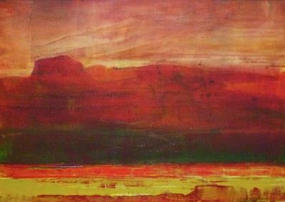 Red Hills: 2013<br>Acrylic<br>13 x 20