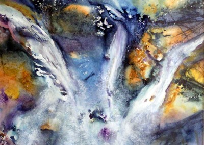 Cascading<br>Watercolor<br>16 1/2 x 18