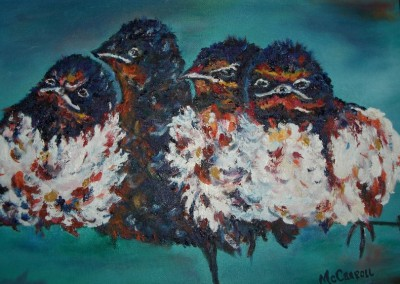 Angry Birds<br>Oil<br>11 x 14