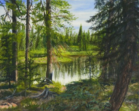 Katie Hill<br>Grand Mesa Lake<br>Oil<br>16 x 20<br>