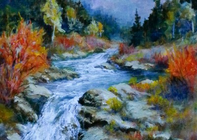 Animas Forks Falls<br>16 x 20<br>Oil<br>$300